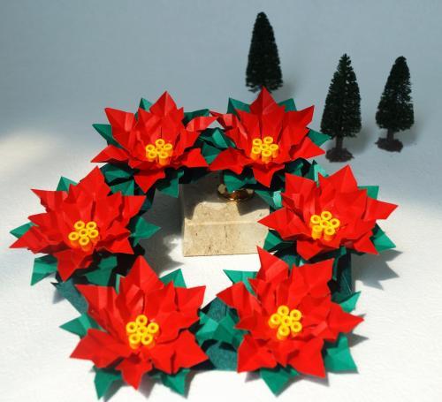 クリスマス 折り紙:ポインセチア 折り紙-origamikaikan.co.jp